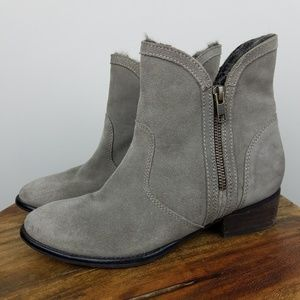 Seychelles Fur Lined Suede Booties 6.5